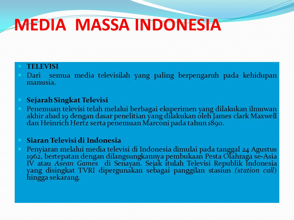 MEDIA MASSA INDONESIA TELEVISI