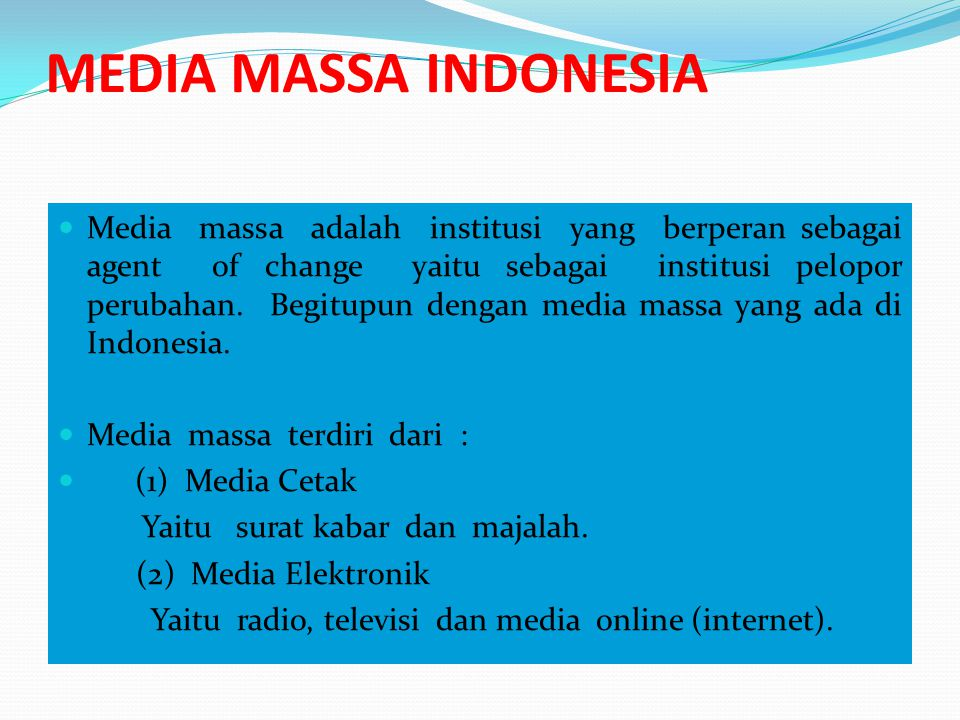 MEDIA MASSA INDONESIA