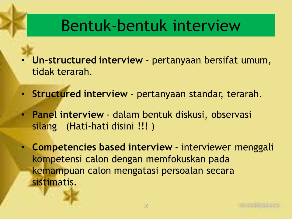Bentuk-bentuk interview
