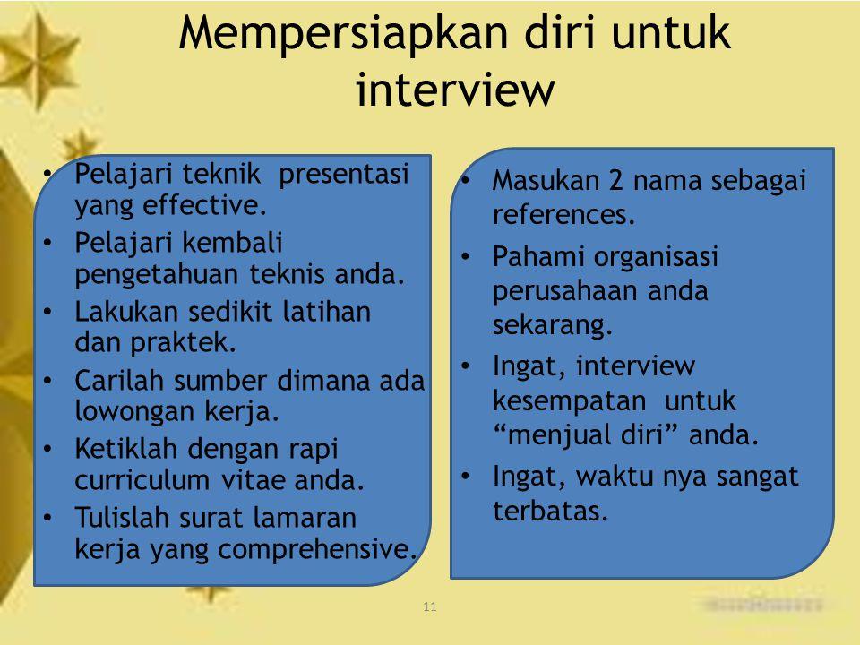 Mempersiapkan diri untuk interview