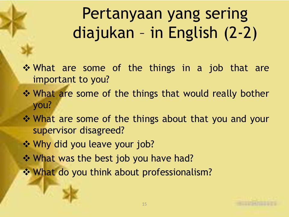 Pertanyaan yang sering diajukan – in English (2-2)