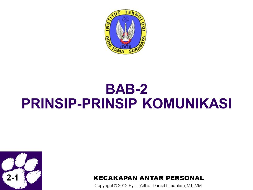 BAB-2 PRINSIP-PRINSIP KOMUNIKASI