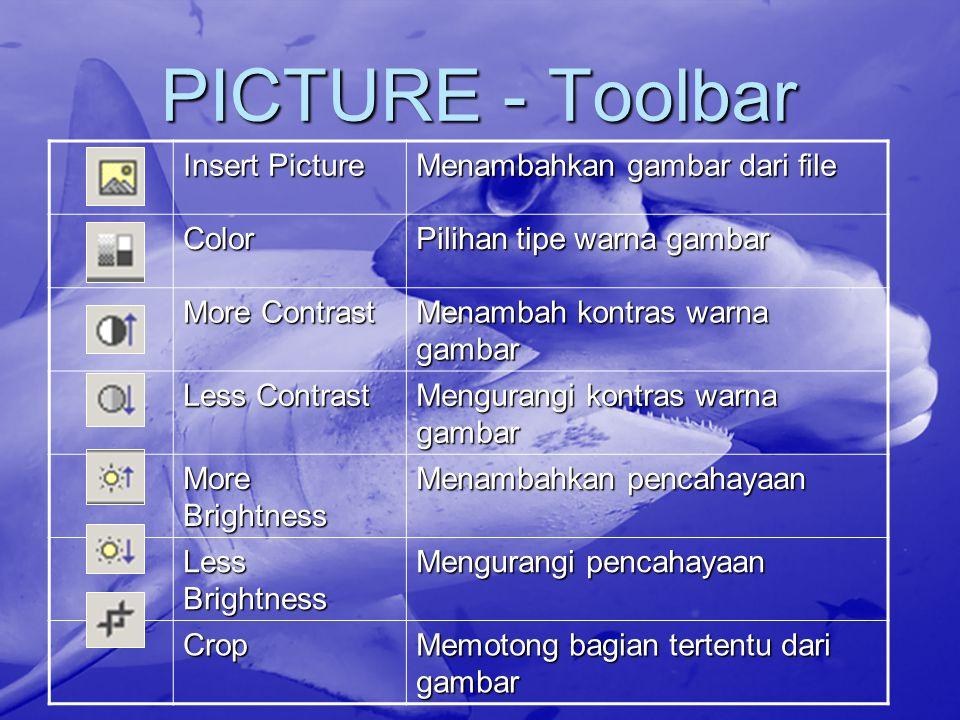 PICTURE - Toolbar Insert Picture Menambahkan gambar dari file Color