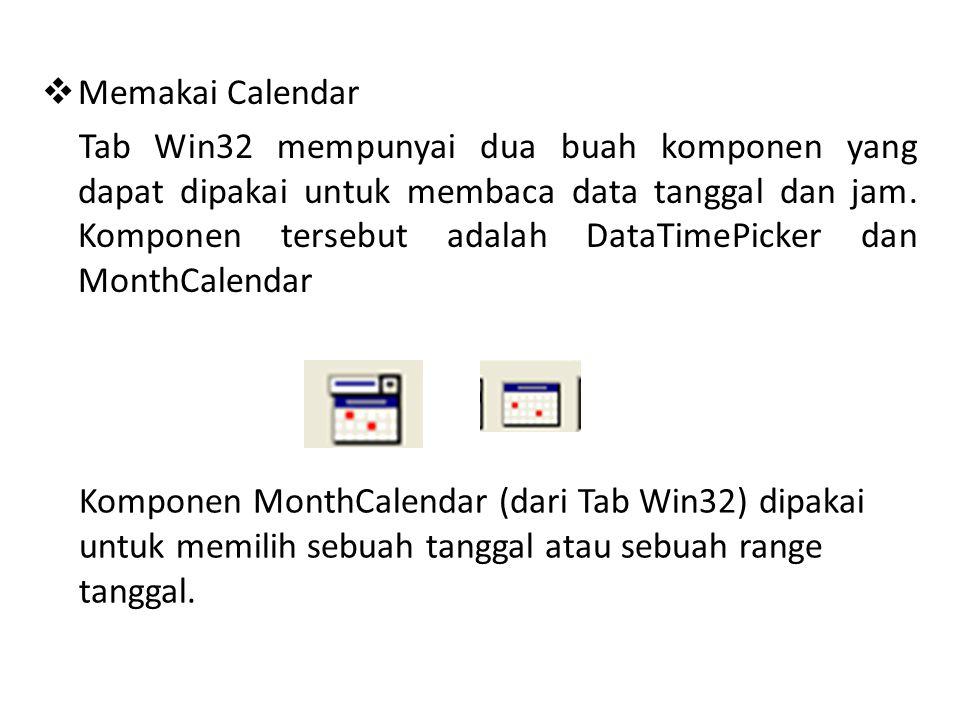 Memakai Calendar