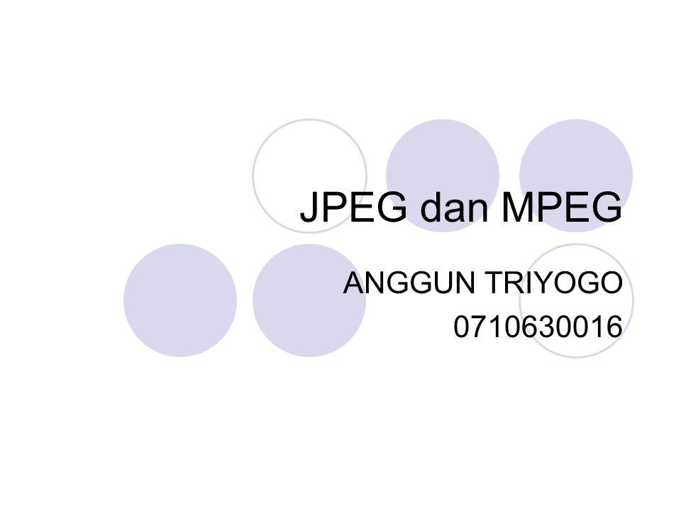 JPEG dan MPEG ANGGUN TRIYOGO 0710630016