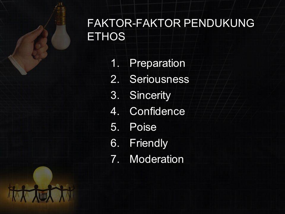 FAKTOR-FAKTOR PENDUKUNG ETHOS