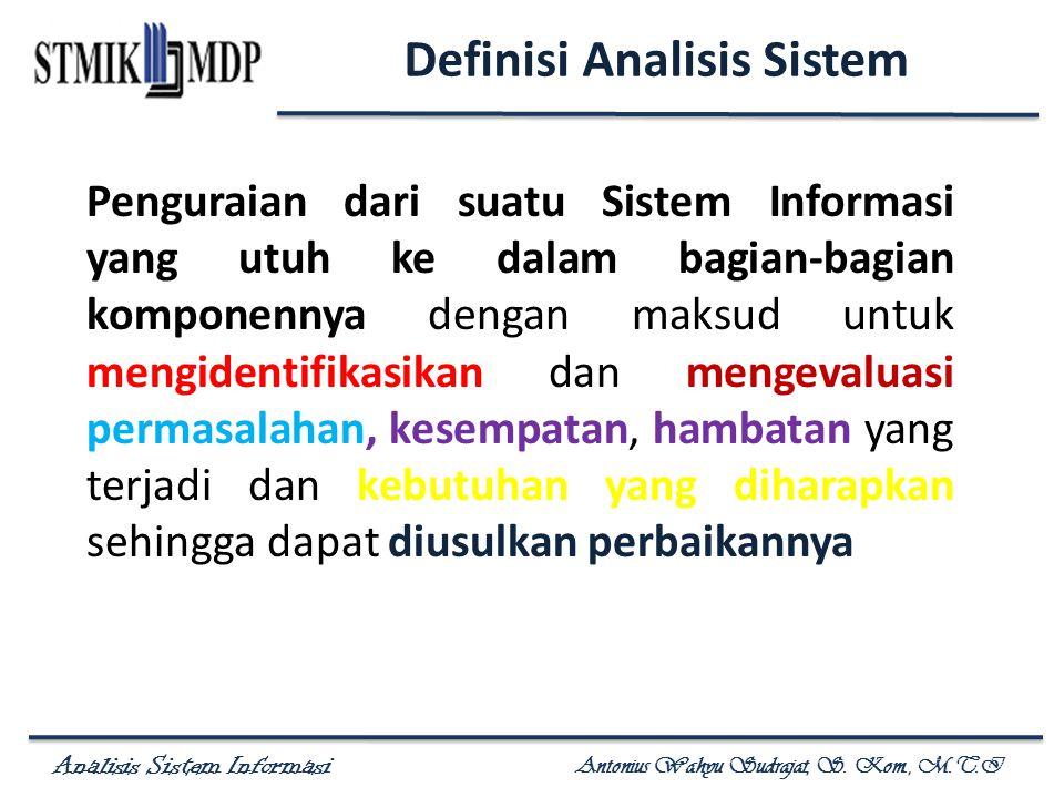 Definisi Analisis Sistem