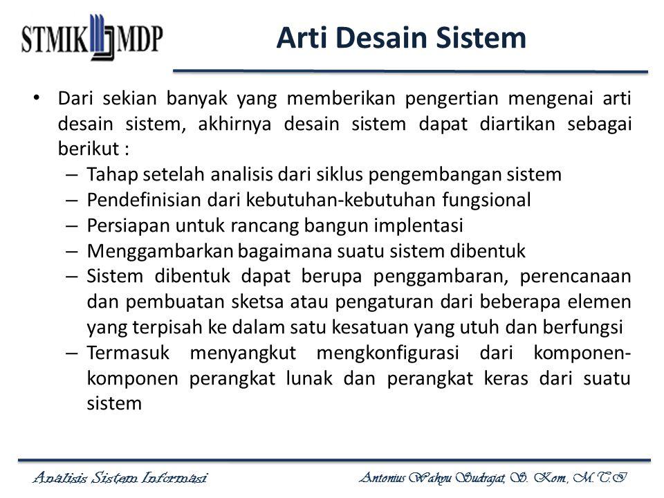 Arti Desain Sistem