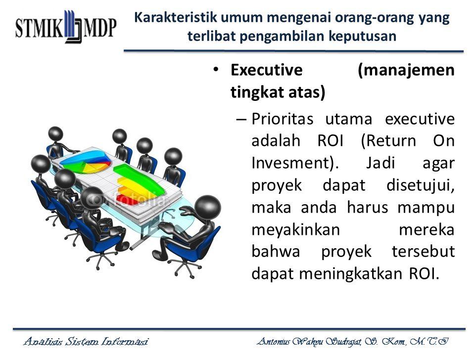 Executive (manajemen tingkat atas)