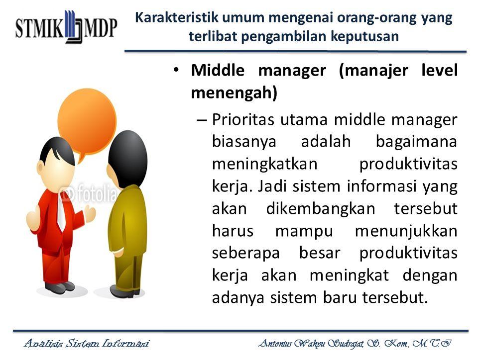 Middle manager (manajer level menengah)