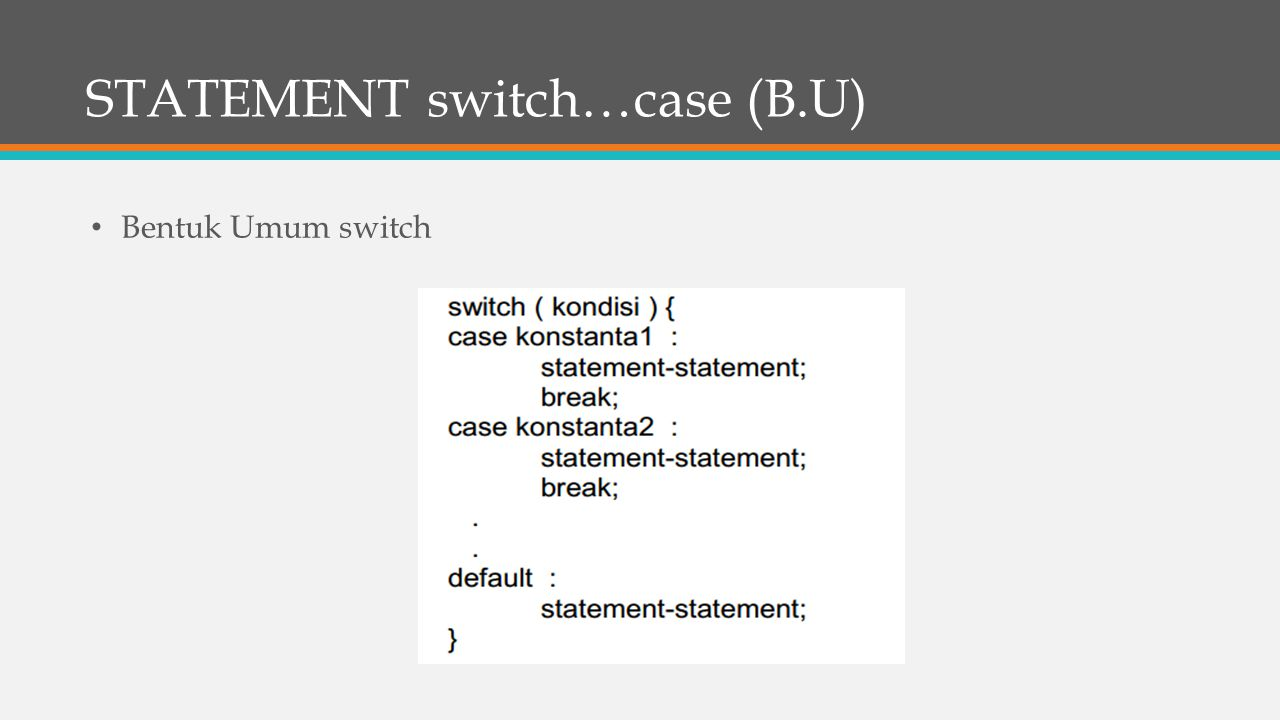 STATEMENT switch…case (B.U)