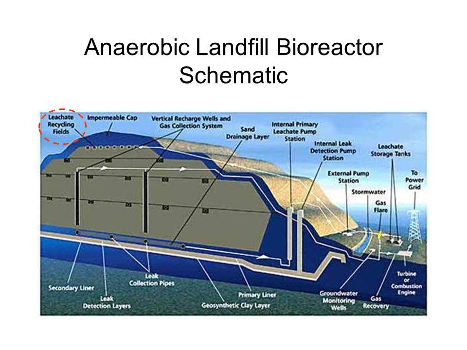 Anaerobic Landfill Bioreactor Schematic