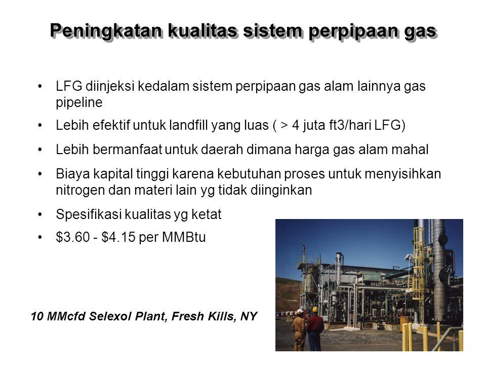 Peningkatan kualitas sistem perpipaan gas