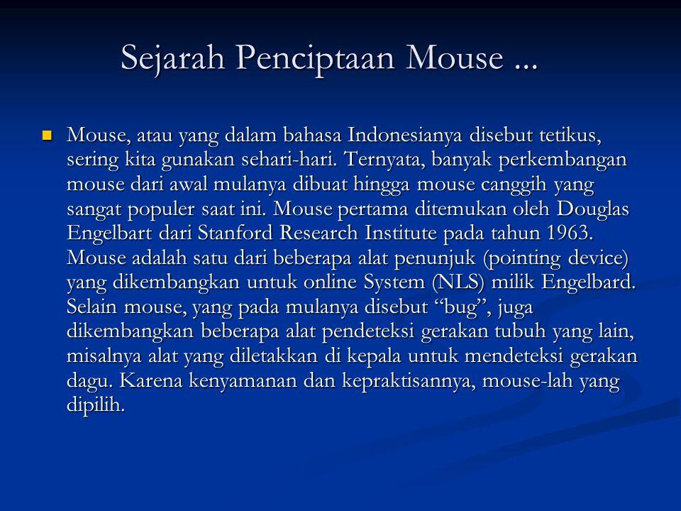 Sejarah Penciptaan Mouse ...