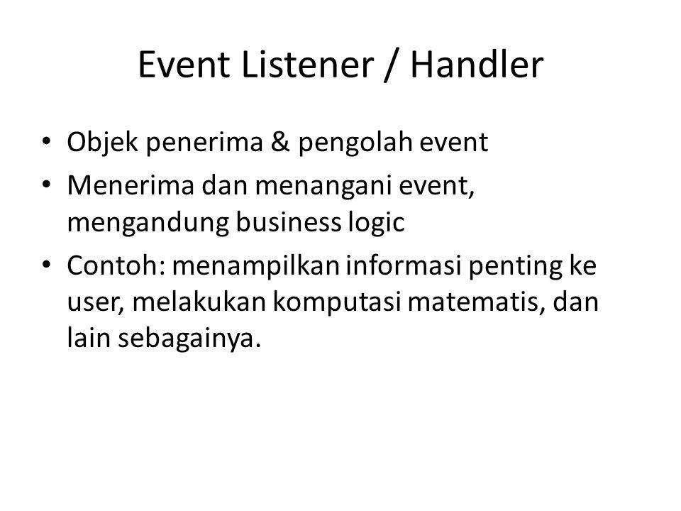 Event Listener / Handler