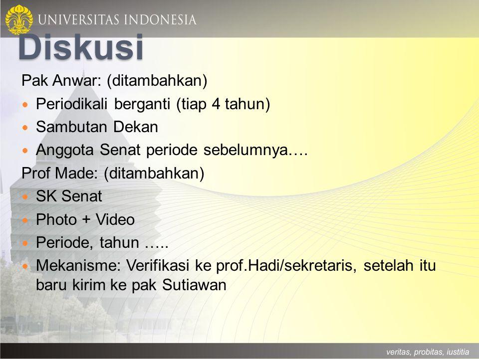 Diskusi Pak Anwar: (ditambahkan) Periodikali berganti (tiap 4 tahun)