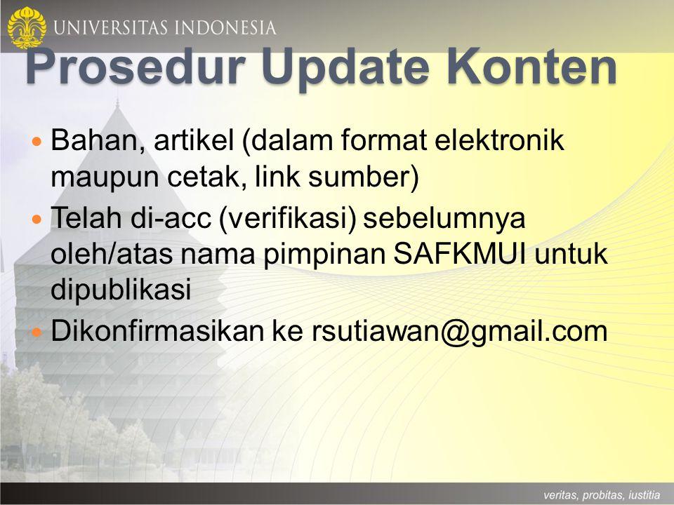 Prosedur Update Konten