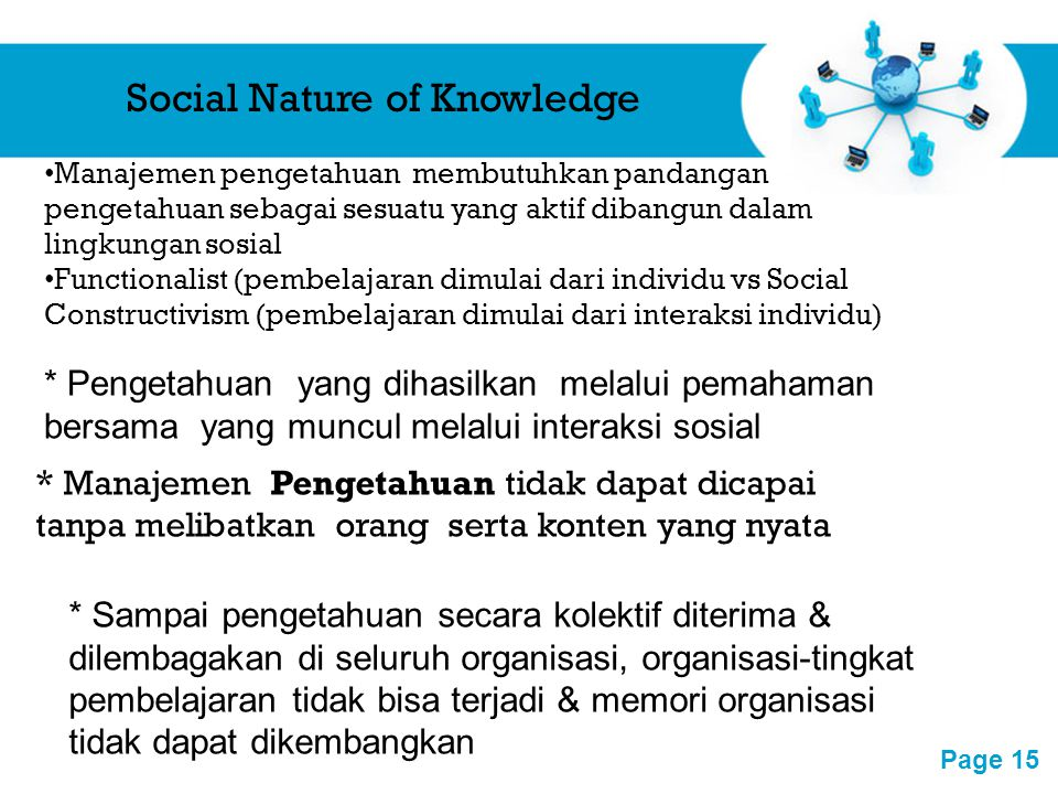 Social Nature of Knowledge