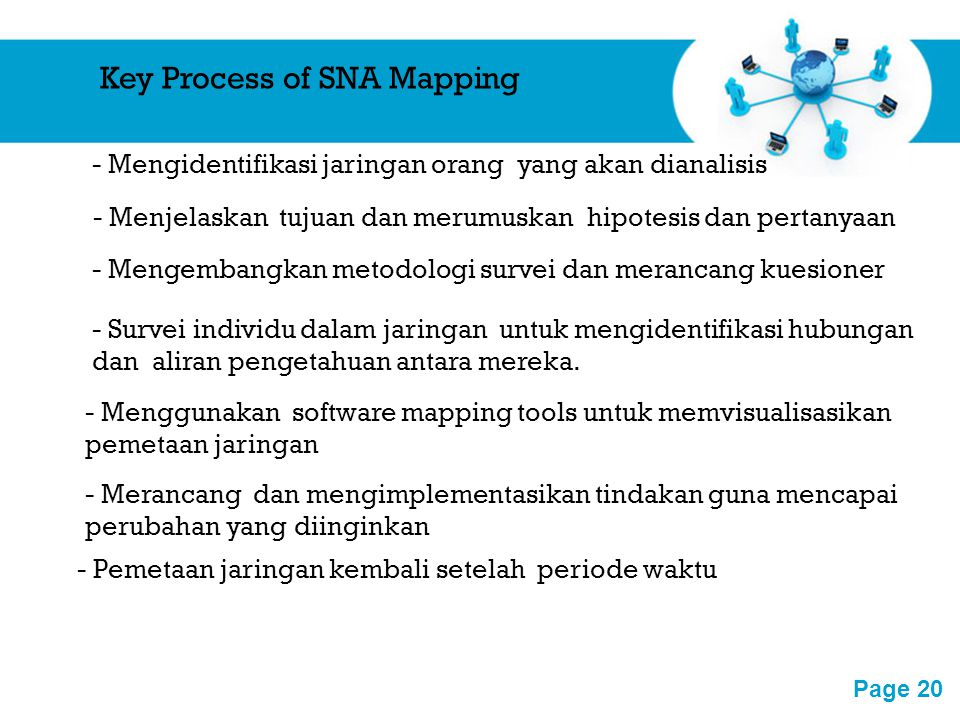 Key Process of SNA Mapping
