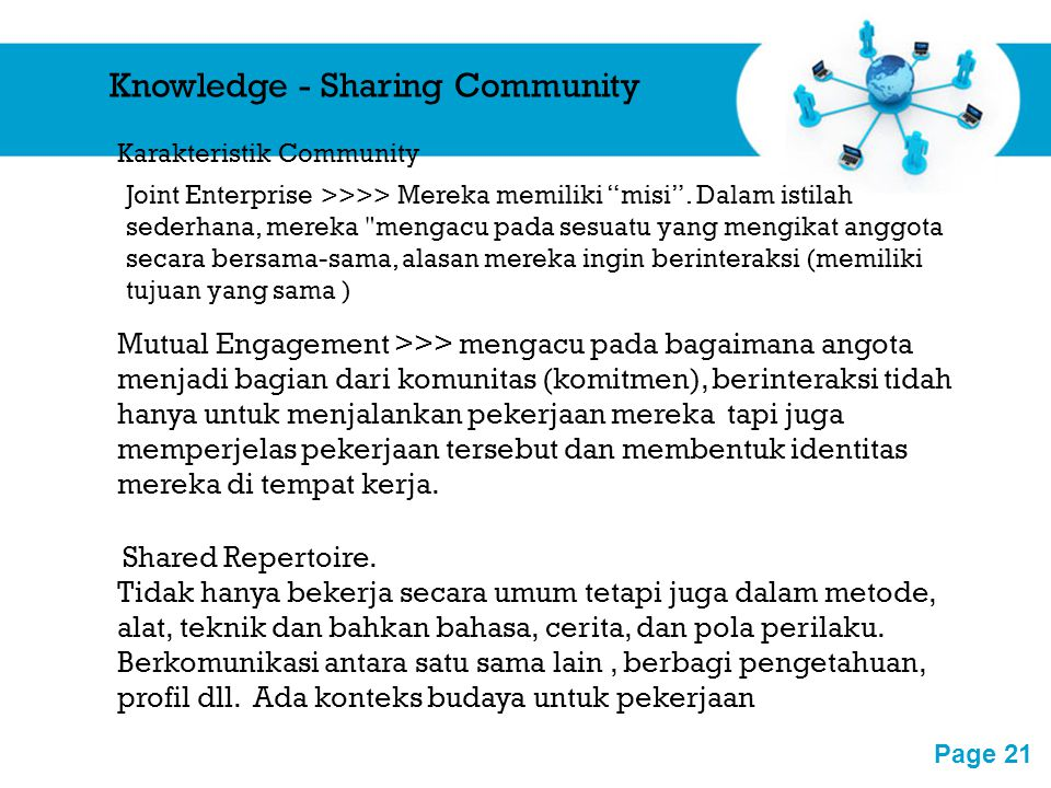 Knowledge - Sharing Community