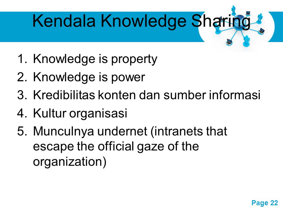 Kendala Knowledge Sharing