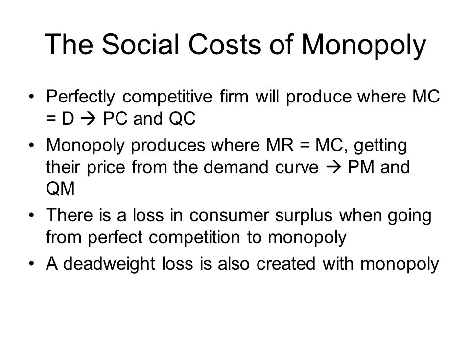 The Social Costs of Monopoly