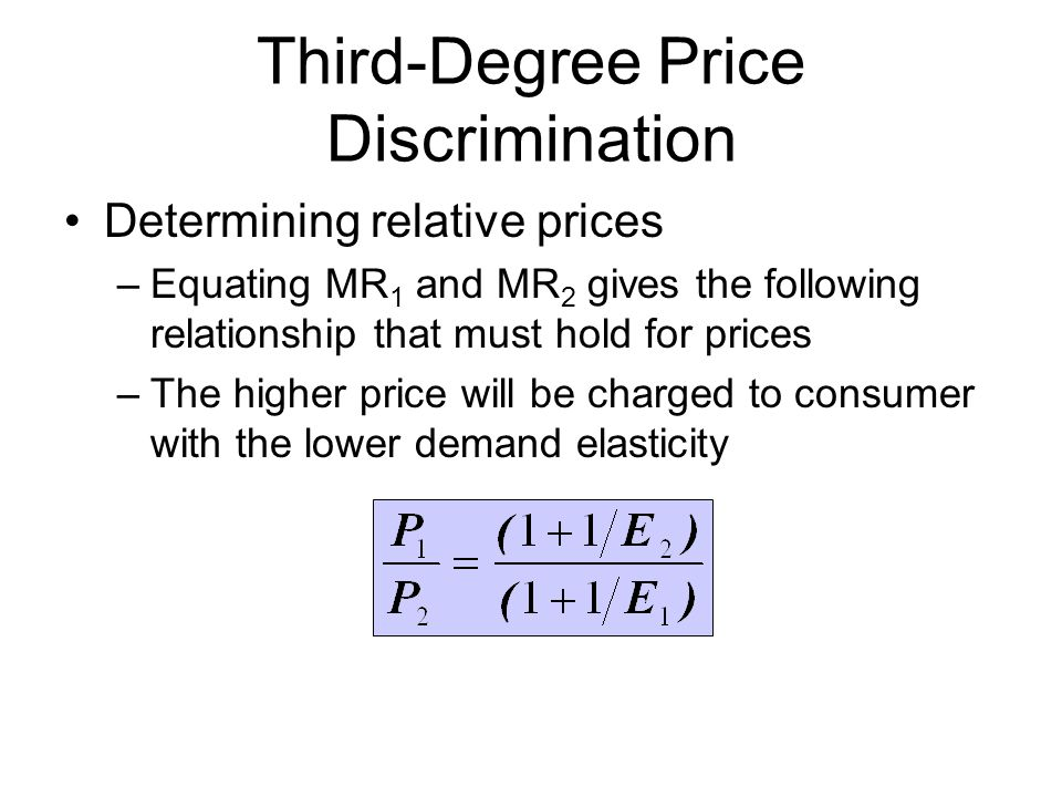 Third-Degree Price Discrimination