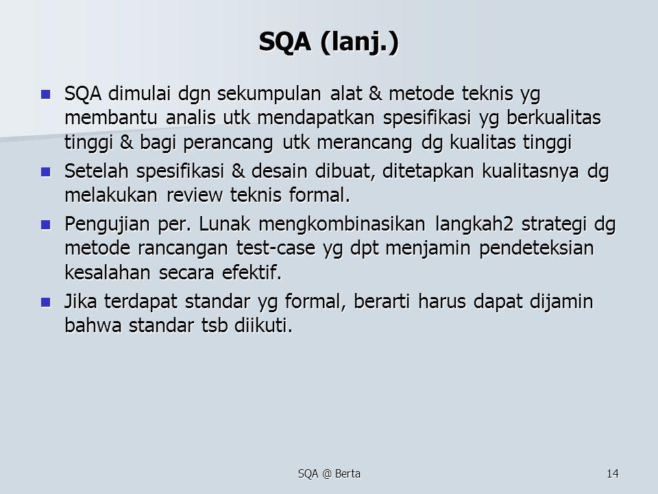 SQA (lanj.)