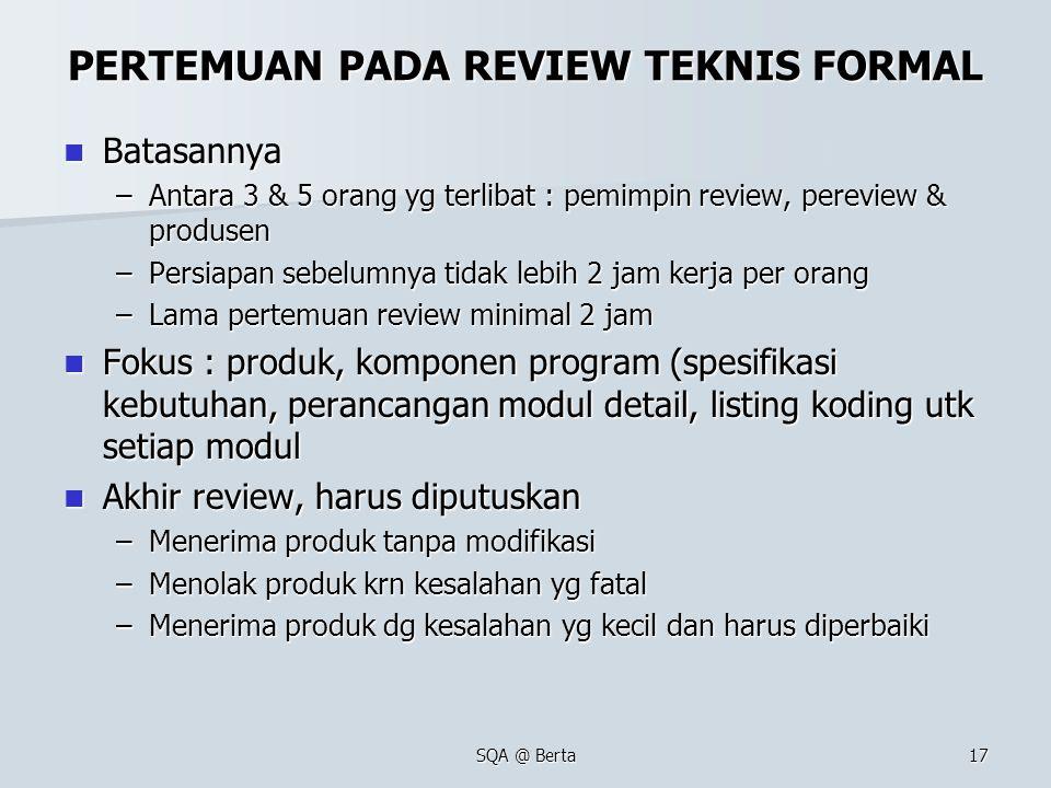 PERTEMUAN PADA REVIEW TEKNIS FORMAL