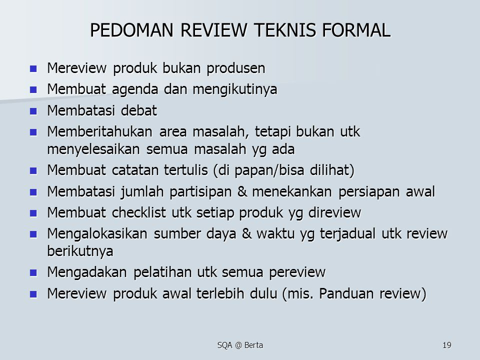 PEDOMAN REVIEW TEKNIS FORMAL