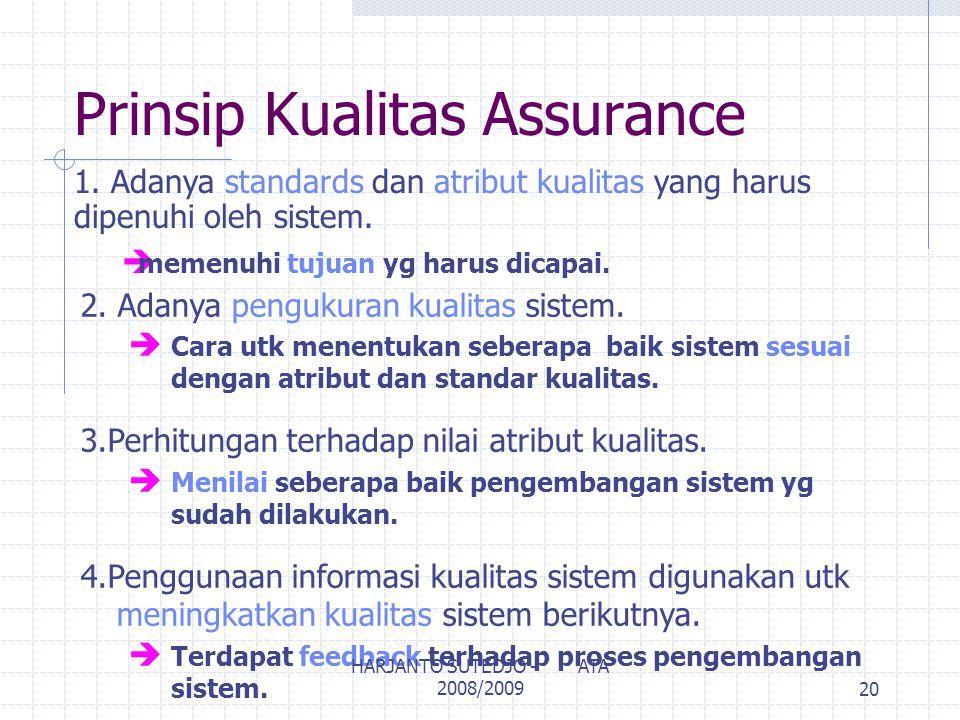 Prinsip Kualitas Assurance