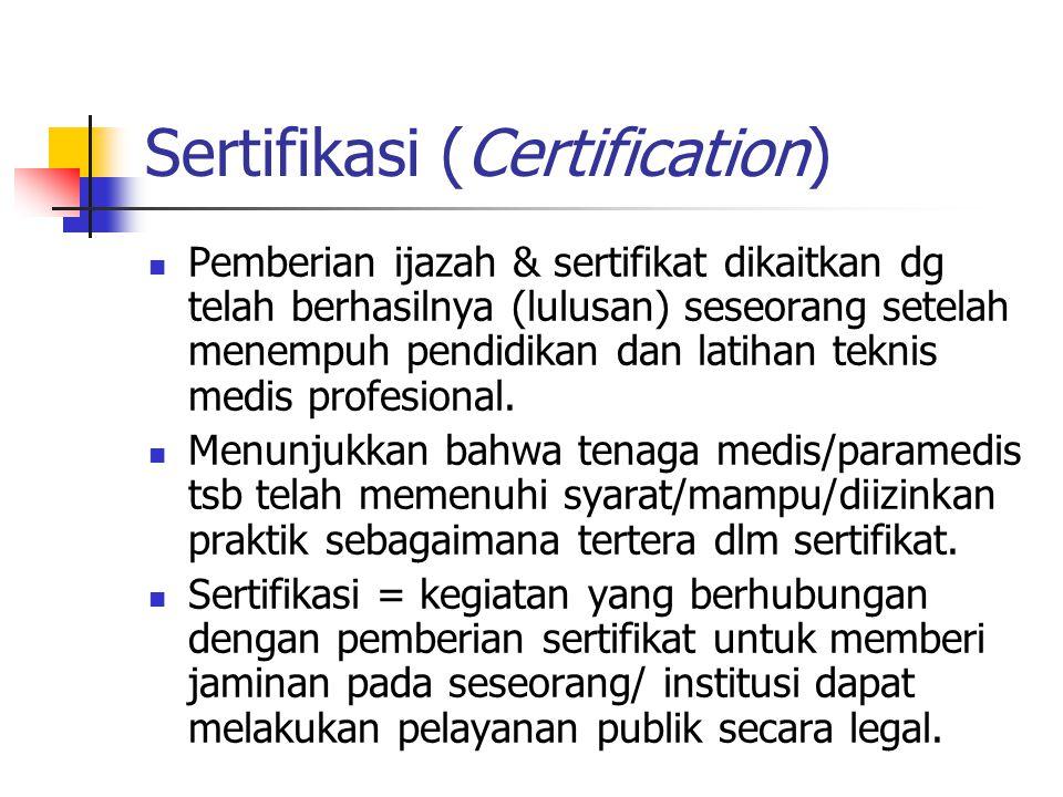 Sertifikasi (Certification)