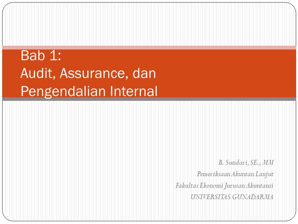 Bab 1: Audit, Assurance, dan Pengendalian Internal