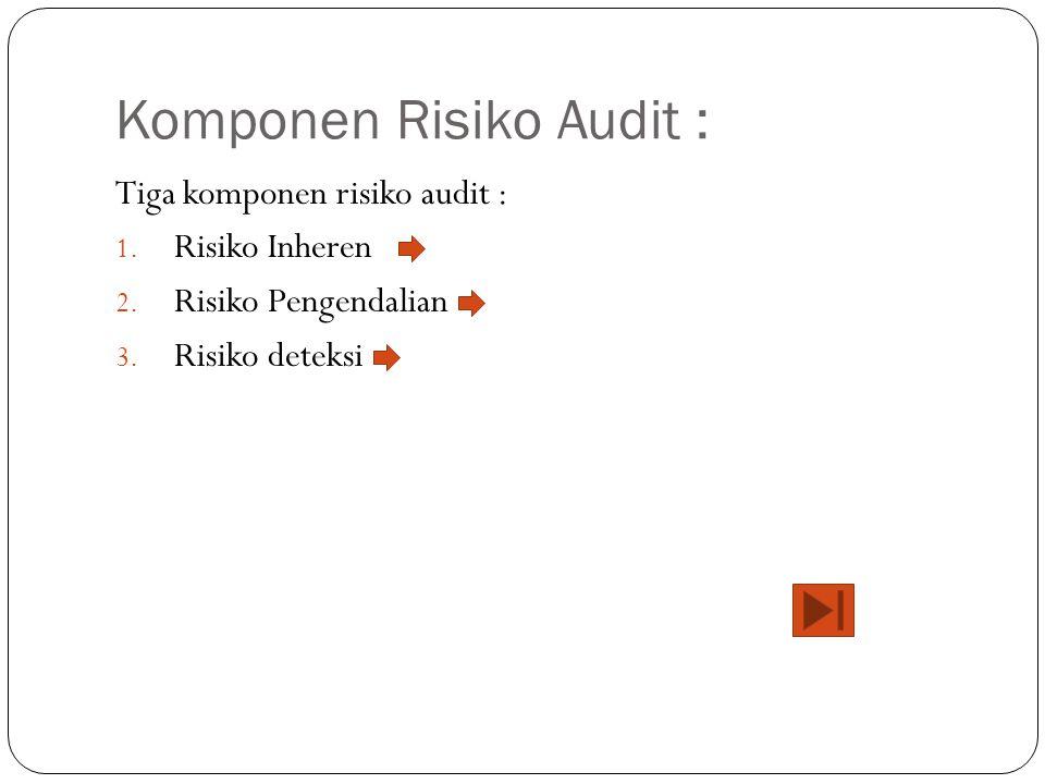 Komponen Risiko Audit :