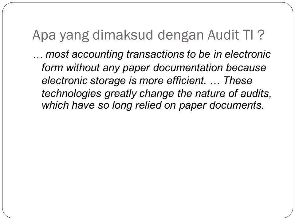 Apa yang dimaksud dengan Audit TI