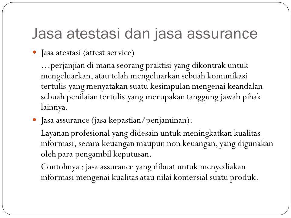 Jasa atestasi dan jasa assurance