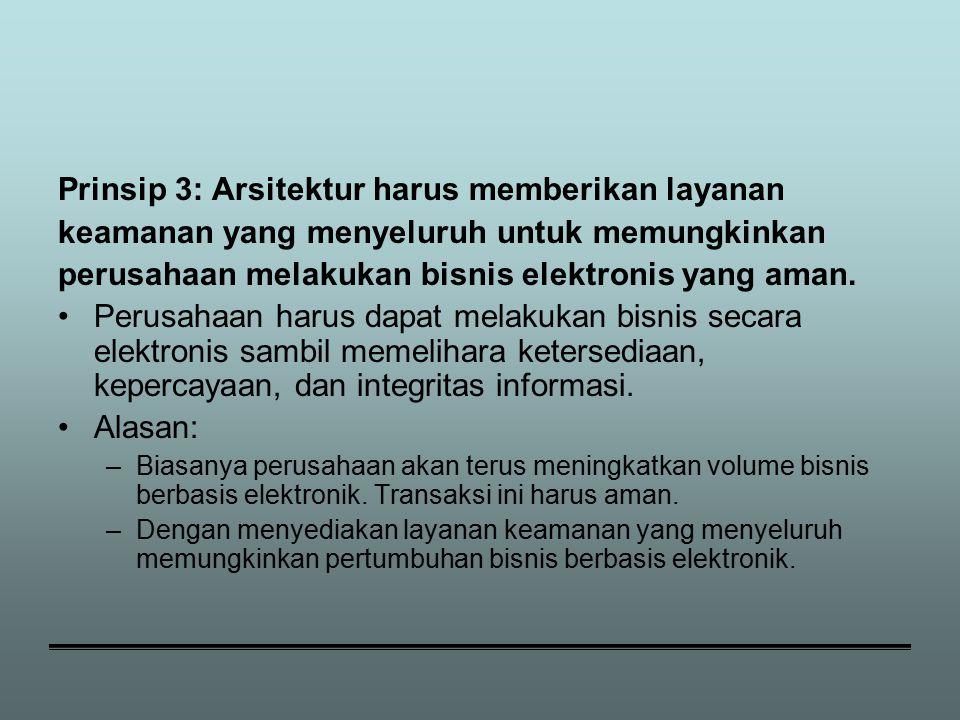 Prinsip 3: Arsitektur harus memberikan layanan