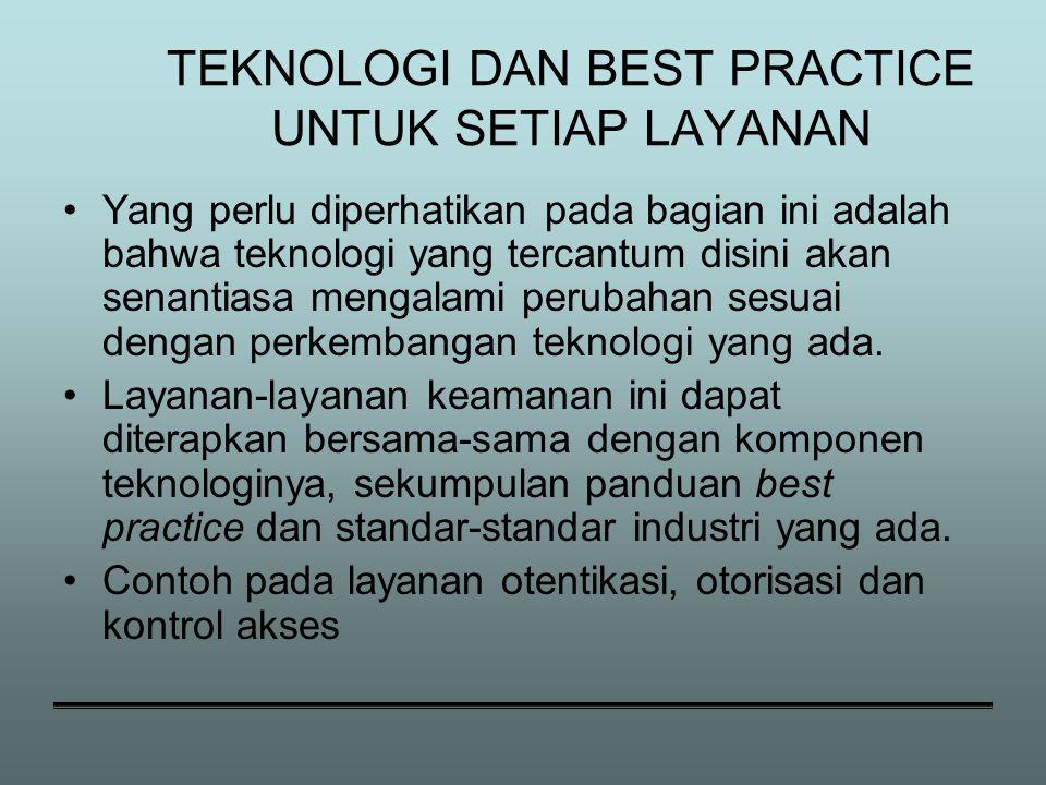 TEKNOLOGI DAN BEST PRACTICE UNTUK SETIAP LAYANAN