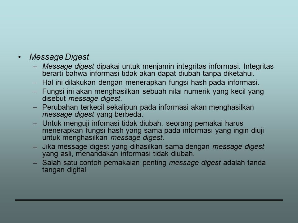 Message Digest
