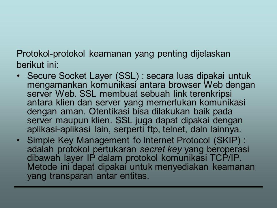 Protokol-protokol keamanan yang penting dijelaskan