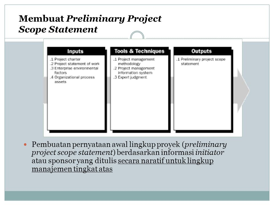 Membuat Preliminary Project Scope Statement