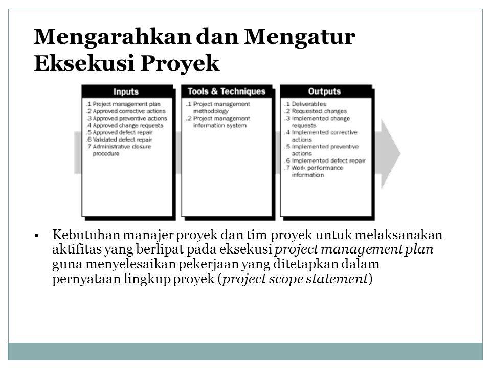 Mengarahkan dan Mengatur Eksekusi Proyek
