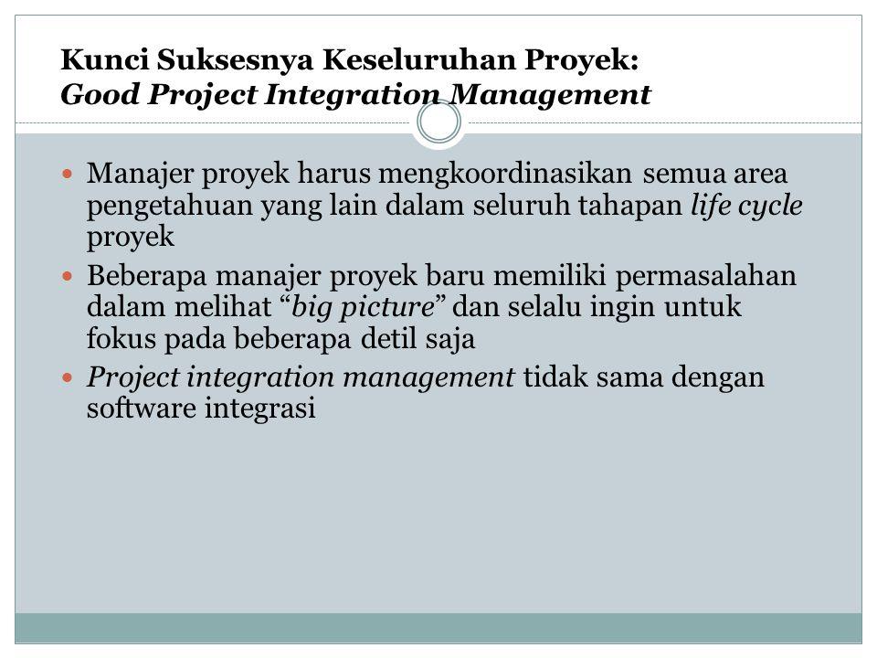 Kunci Suksesnya Keseluruhan Proyek: