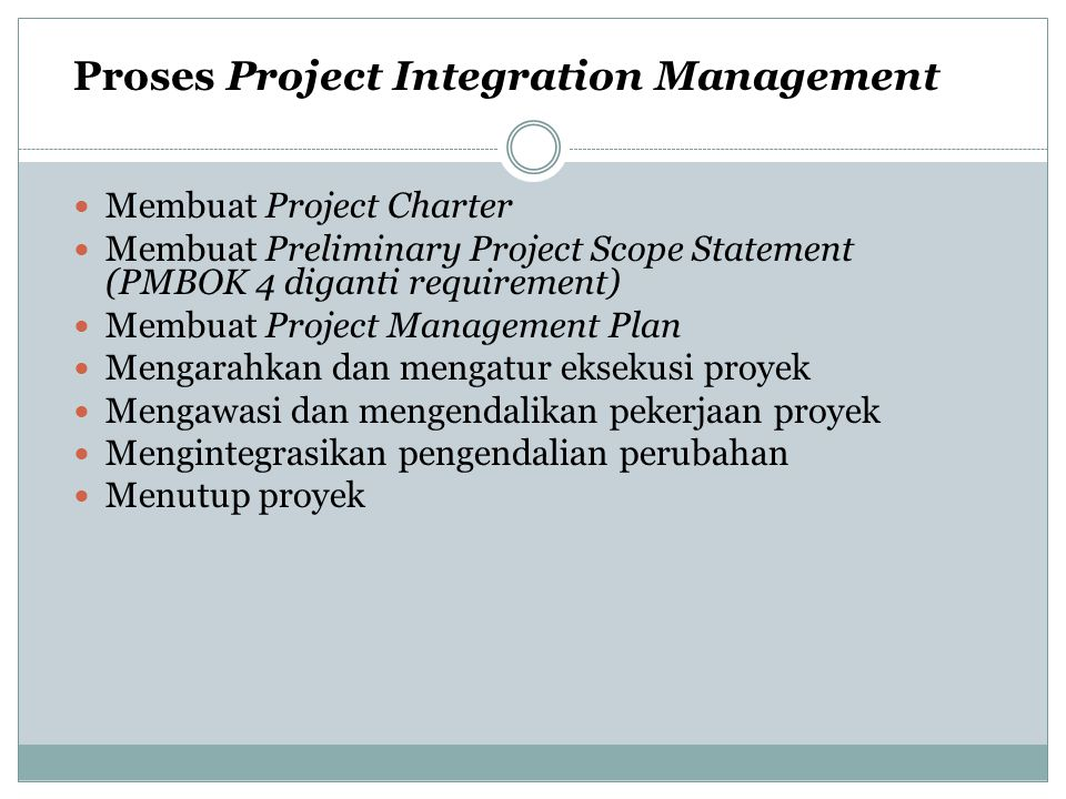 Proses Project Integration Management