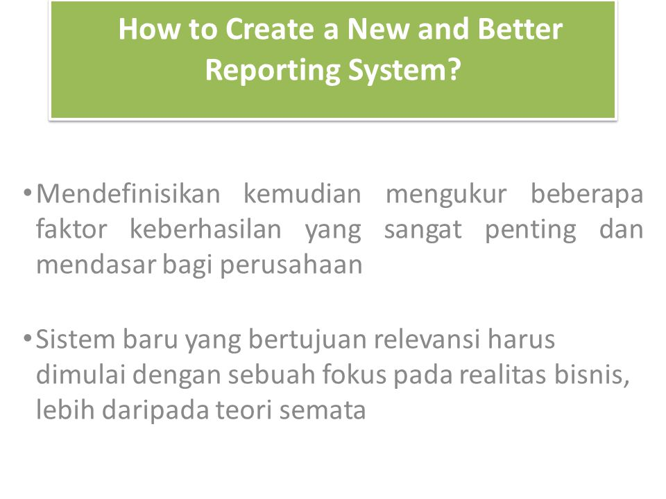 How to Create a New and Better Reporting System