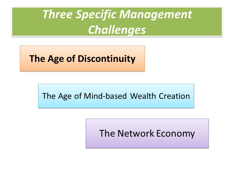 Three Specific Management Challenges