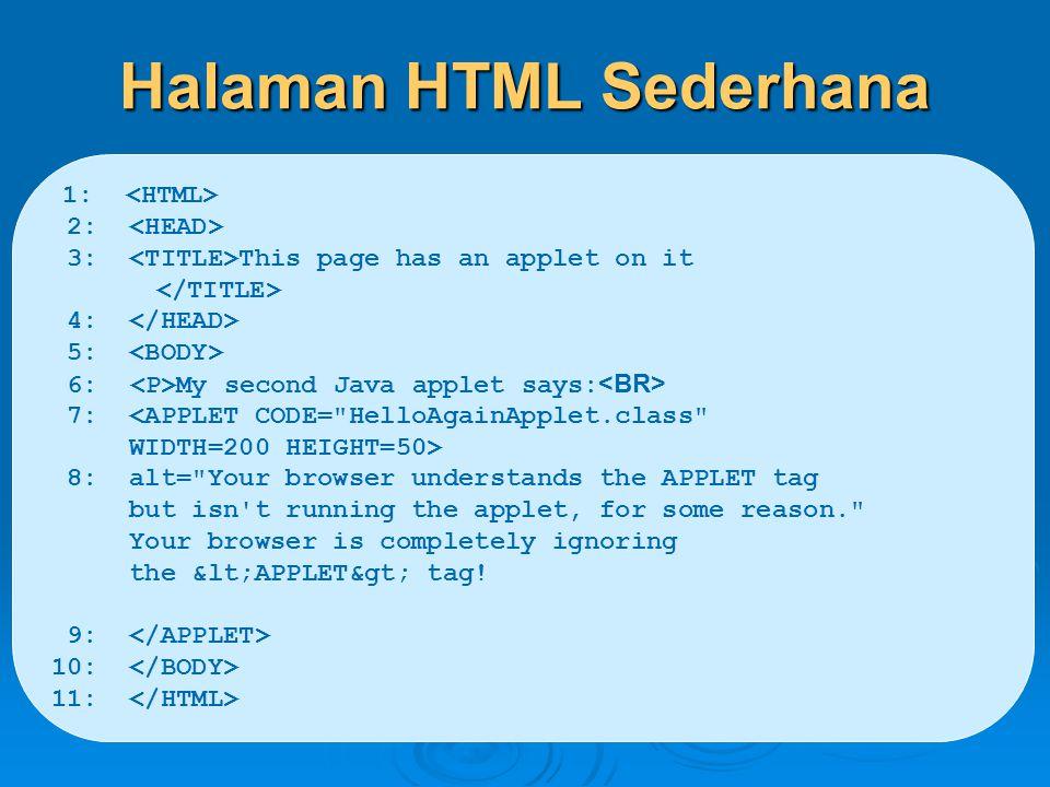 Halaman HTML Sederhana