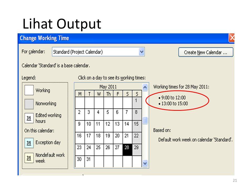 Lihat Output