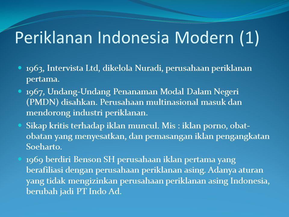 Periklanan Indonesia Modern (1)