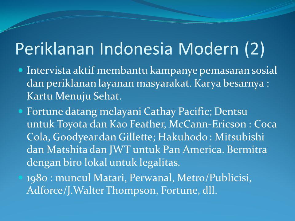 Periklanan Indonesia Modern (2)